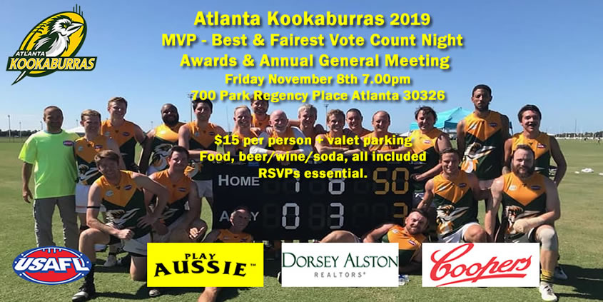 MVP Night Atlanta Kookaburras